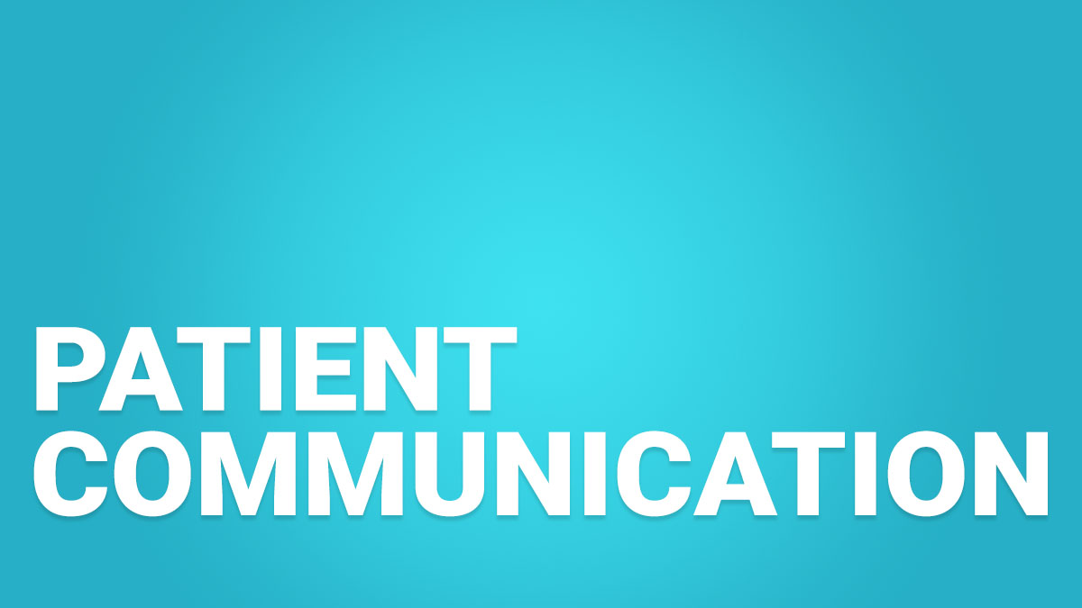 Patient Communication Dental Training Videos